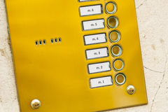 Metal keypad of intercom. Stock Images
