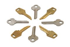 Metal keys Stock Photo