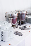 Metal kitchen equipments Stock Photo