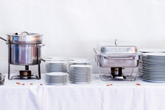 Metal kitchen equipments Stock Photos