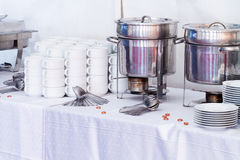Metal kitchen equipments Stock Images