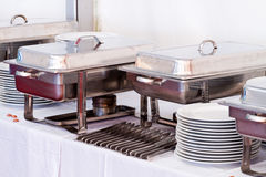 Metal kitchen equipments Stock Image