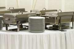 Metal kitchen equipments Royalty Free Stock Photos