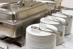 Metal kitchen equipments Stock Photography