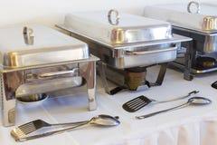 Metal kitchen equipments Royalty Free Stock Image