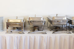 Metal kitchen equipments Royalty Free Stock Photography