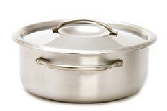 Metal kitchen pan Stock Image