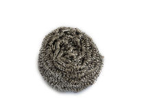 Metal kitchen sponge. Stock Photos