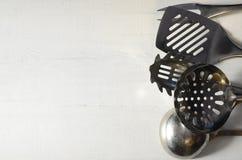 Metal kitchen utensils Stock Images