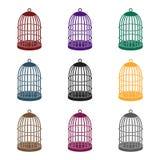 Metal klatka dla ptaków Zwierzę domowe sklepu pojedyncza ikona w czerń stylu symbolu zapasu ilustraci wektorowej sieci ilustracji