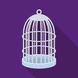 Metal klatka dla ptaków Zwierzę domowe sklepu pojedyncza ikona w czerń stylu symbolu zapasu ilustraci wektorowej sieci ilustracja wektor