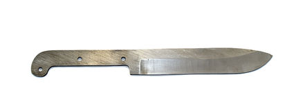 A metal knife on a white background. With no handle Stock Photos