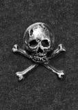 Metal kości i czaszka Zdjęcia Stock