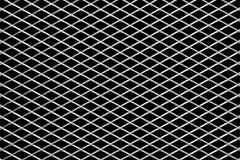 Metal l'électrodéposition de maille d'isolement sur un fond noir Photographie stock