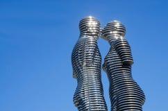 Metal l'amour de sculpture d'Ali et de Nino, Batumi, la Géorgie Photos stock