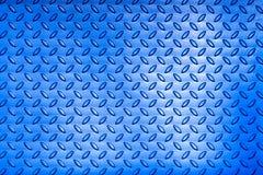 Metal l'immagine blu del piatto di pavimento con il modello del diamante Fotografia Stock Libera da Diritti