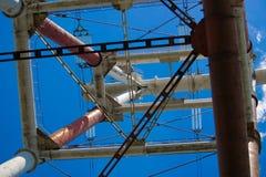 Metal la costruzione Cielo blu Fotografia Stock Libera da Diritti