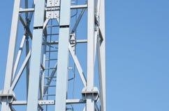 Metal la costruzione del riflettore nello stadio immagine stock