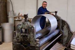 Metal la fabricación del tubo Foto de archivo libre de regalías