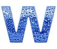 Metal la lettre et arrosez les baisses - marquez avec des lettres W Photos libres de droits