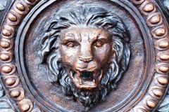 Metal la pista del león Fotografía de archivo