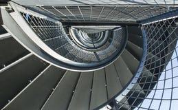 Metal la scala a chiocciola alla torre a Friedrichshafen, GERMANIA Fotografia Stock Libera da Diritti