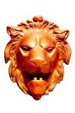 Metal la tête de lion photographie stock