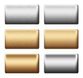 Metal la tarjeta de plata del oro, fondo al desig ilustración del vector