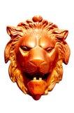 Metal la testa del leone fotografia stock