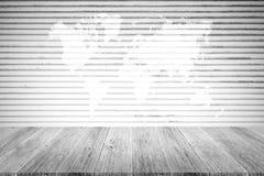 Metal la texture de mur de rouille, processus dans la couleur blanche avec le terra en bois Photographie stock