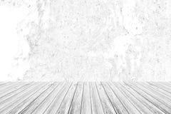 Metal la texture de mur de rouille, processus dans la couleur blanche avec le terra en bois Photo stock