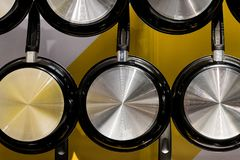 Metal la vaschetta di frittura Immagine Stock