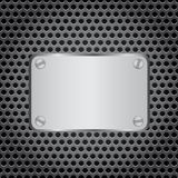 Metal label grid background Royalty Free Stock Image