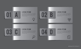 Metal Labels Infographic Elements Stock Photo