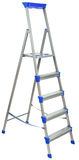 Metal ladder with blue elements Royalty Free Stock Photos