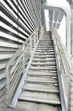 Metal ladder and building Stock Photos