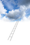 Metal ladder goes to the cloudy sky Stock Images