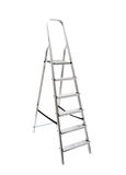 Metal ladder isolated on white. Background Stock Photos