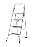 Metal ladder. Isolated on white background stock photos