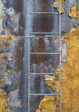 Metal ladder on old water tank Royalty Free Stock Photo
