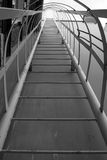 Metal ladder to the roof, black and white Royalty Free Stock Photography