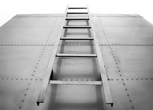 Metal ladder on truck Stock Photography