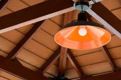 Metal lamp hanging Stock Photo