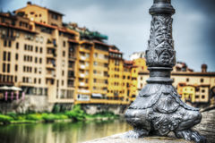 Metal lamppost in Ponte Vecchio Royalty Free Stock Photo