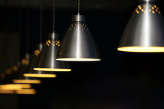 Metal lamps Stock Images