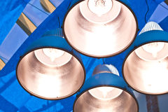Metal lamps Stock Photo