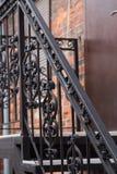 Metal las escaleras fotografía de archivo