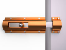 Metal latch for the door, 3D Stock Photography
