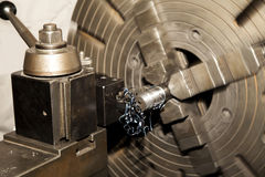 Metal Lathe Royalty Free Stock Photography