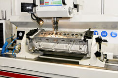 Metal lathe Stock Photography
